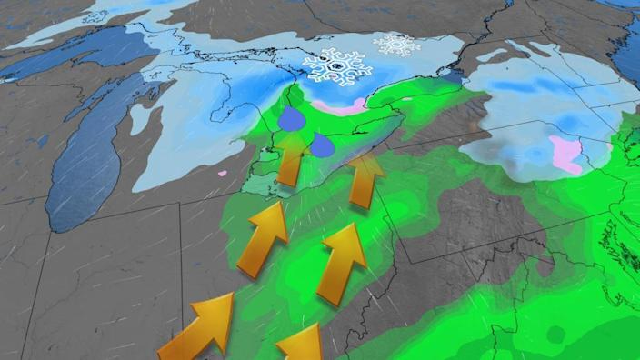 Flip-flop of a weekend in Ontario, messy systems interrupt spring-like feel