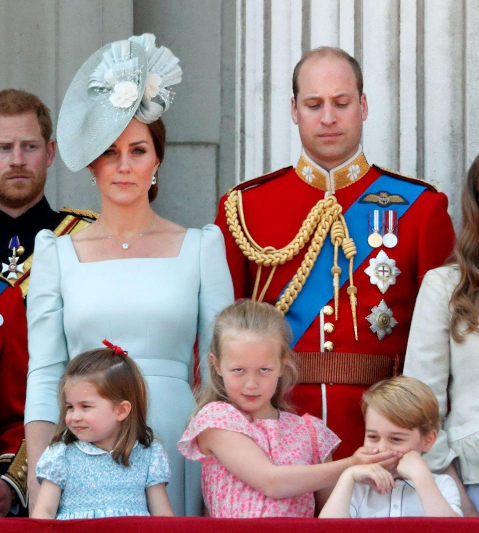<p>Savannah Phillips takes matters into her own hands when Prince George can't stop giggling at the 2018 Trooping the Colour. </p>