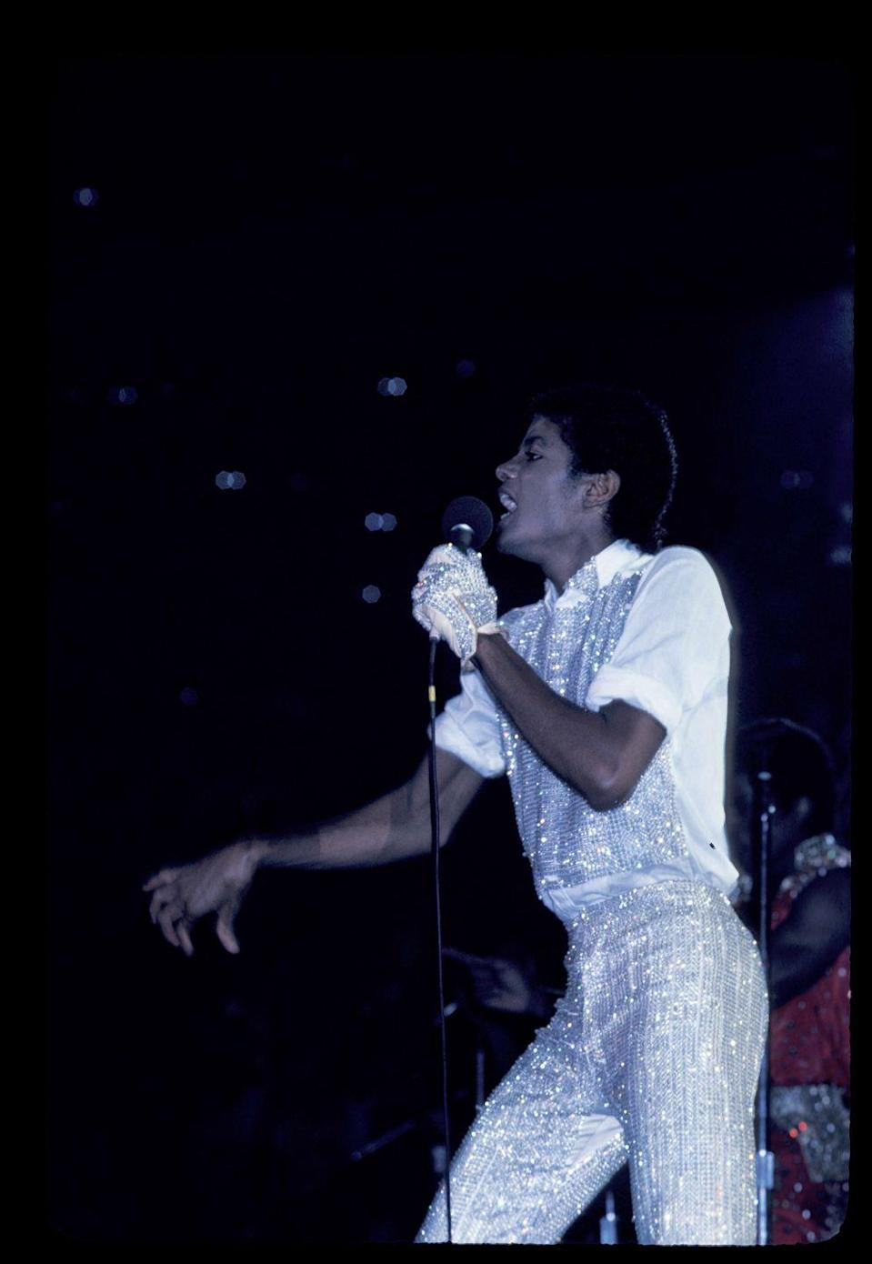 <p>Touring with the Jackson 5 in 1981.</p>