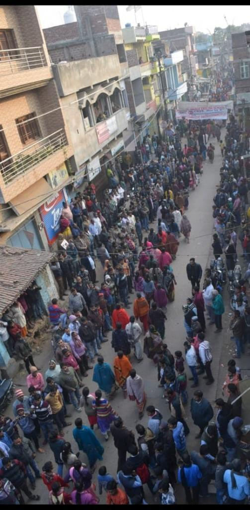 Residents of Gaya during the candle march protesting the murder and rape of the 16-year-old minor. Image sourced by 101 Reporters