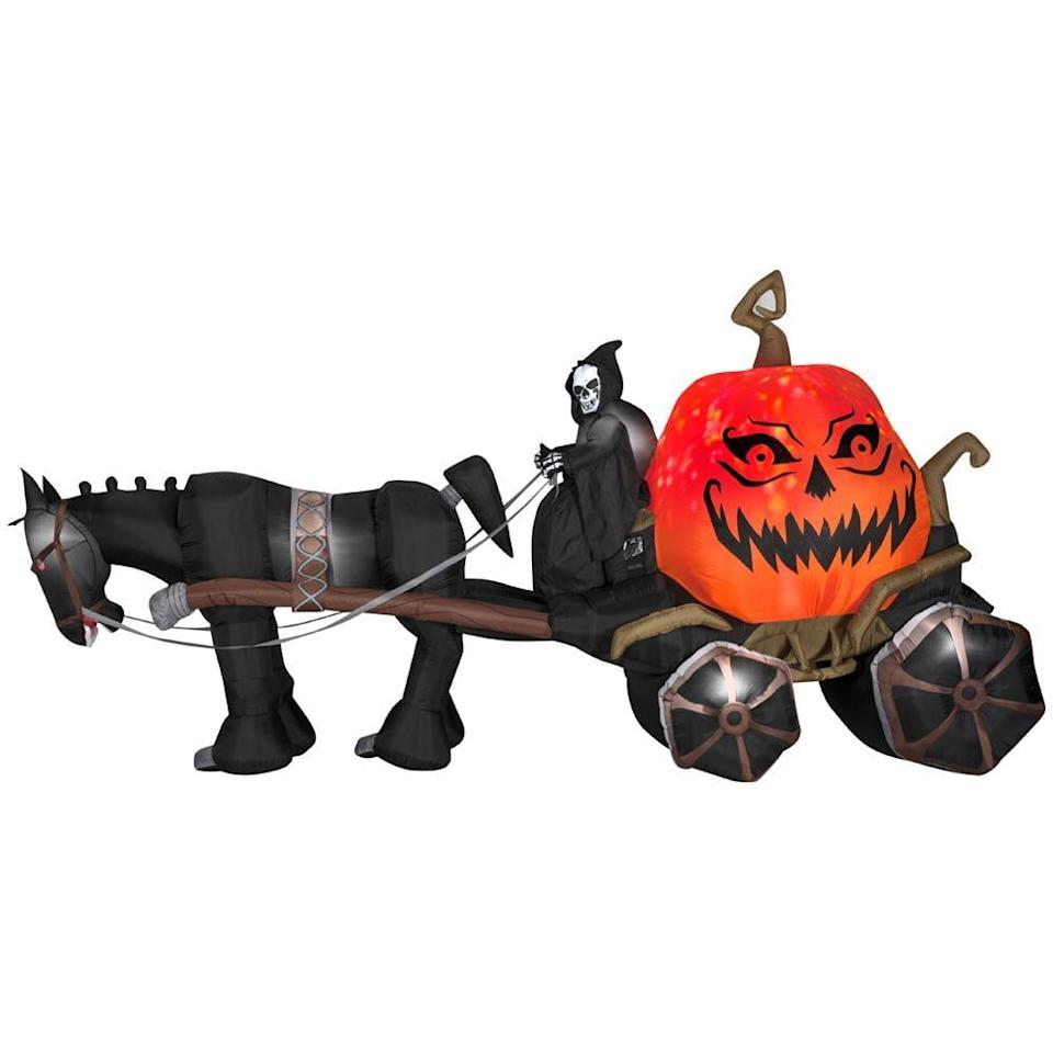 <p>Why yes, this 14-foot <span>Fire Ice Grim Reaper and Carriage Wide-Projection Inflatable</span> ($249) looks like it came straight from the underworld.</p>