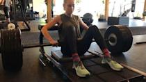 """<p><a href=""""https://www.womenshealthmag.com/uk/fitness/strength-training/a706202/strength-training-for-beginners/"""" rel=""""nofollow noopener"""" target=""""_blank"""" data-ylk=""""slk:Strength training"""" class=""""link rapid-noclick-resp"""">Strength training</a> has so many benefits it's tricky to list them all here. From building muscle to improving bone density and metabolic health, it's one of the best ways to keep fit for life. </p><p>Brie (because she's a total badass) does it on the reg, showing here how much she can <a href=""""https://www.womenshealthmag.com/uk/fitness/strength-training/a28759701/hip-thrust/"""" rel=""""nofollow noopener"""" target=""""_blank"""" data-ylk=""""slk:hip thrust"""" class=""""link rapid-noclick-resp"""">hip thrust</a>. Spoilers: it's a lot. Not quite up to a barbell and plates yet? Try with just your bodyweight first and work your way up. </p><p>Learn everything you need to know about <a href=""""https://www.womenshealthmag.com/uk/fitness/strength-training/a36107039/resistance-training/"""" rel=""""nofollow noopener"""" target=""""_blank"""" data-ylk=""""slk:resistance training"""" class=""""link rapid-noclick-resp"""">resistance training</a>, it's not always barbells – <a href=""""https://www.womenshealthmag.com/uk/gym-wear/g31728797/best-kettlebells/"""" rel=""""nofollow noopener"""" target=""""_blank"""" data-ylk=""""slk:kettlebells"""" class=""""link rapid-noclick-resp"""">kettlebells</a> and <a href=""""https://www.womenshealthmag.com/uk/gym-wear/g33455565/best-dumbbells/"""" rel=""""nofollow noopener"""" target=""""_blank"""" data-ylk=""""slk:dumbbells"""" class=""""link rapid-noclick-resp"""">dumbbells</a> are good too. </p><p><a href=""""https://www.instagram.com/p/BsOZwmND69U/"""" rel=""""nofollow noopener"""" target=""""_blank"""" data-ylk=""""slk:See the original post on Instagram"""" class=""""link rapid-noclick-resp"""">See the original post on Instagram</a></p>"""
