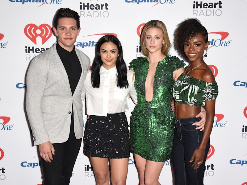 "Reinhart and her ""Riverdale"" co-stars.  (C Flanigan via Getty Images)"