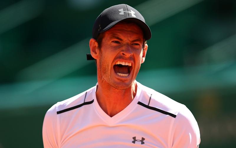 Andy Murray shows his frustration during his defeat to Albert Ramos-Vinolas - Getty Images Europe