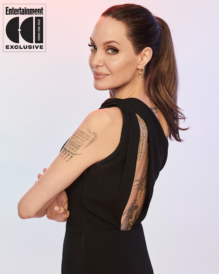 "<a href=""https://ew.com/tag/angelina-jolie"">Angelina Jolie</a> joins the Marvel Cinematic Universe as Thena. ""I'm so excited to be here,"" Jolie said during Marvel's panel. ""I'm training. I am thrilled."""