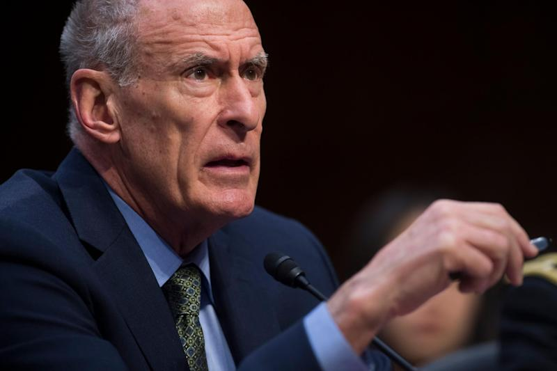 Mr Coats testifying before the Senate Intelligence Committee: AFP/Getty