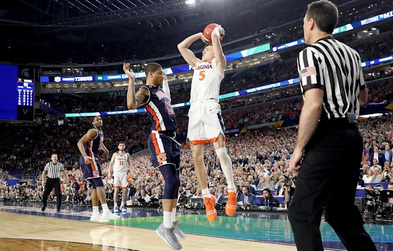 Auburn's loss to Virginia was excruciating. But that doesn't mean the refs should have swallowed their whistles. (Getty)