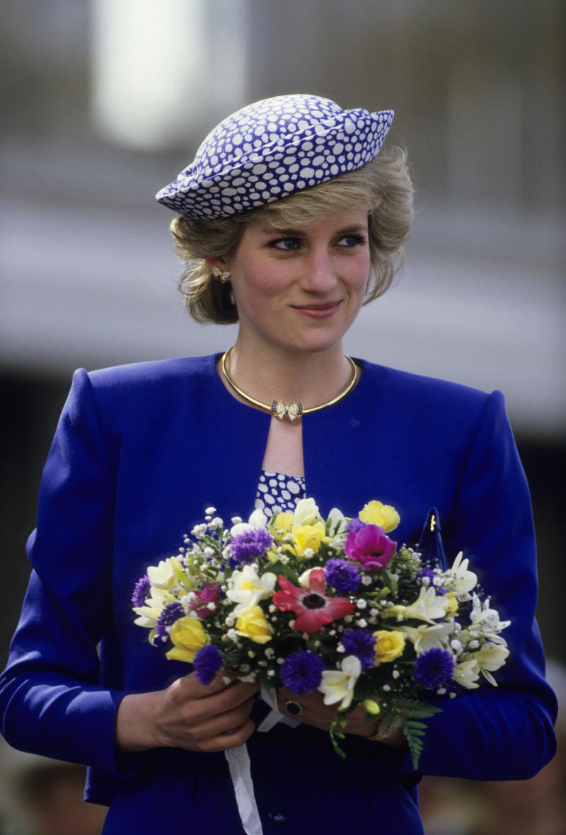Diana, Princess of Wales wearing the butterfly earrings during a trip to Canada on May 3, 1986 [Photo: Getty Images]