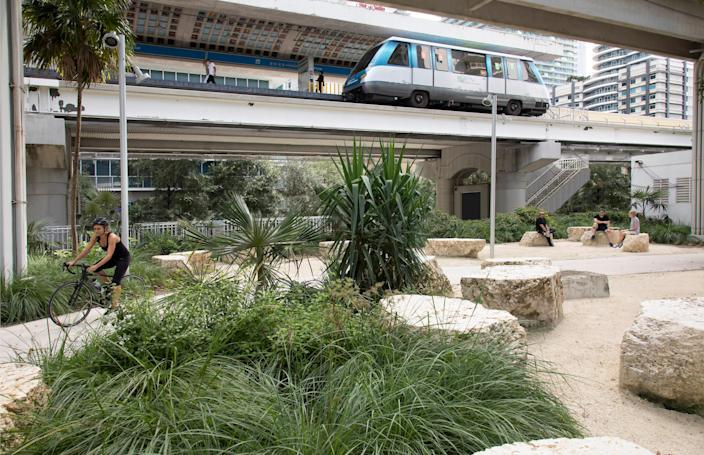 The Underline follows the path of an existing but seldom used light rail system in Miami.