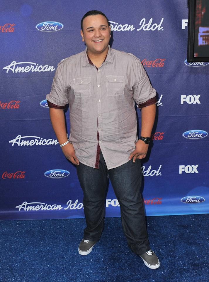 """Finalist Jeremy Rosado attends the Season 11 """"<a href=""""http://tv.yahoo.com/american-idol/show/34934"""">American Idol</a>"""" Top 13 Finalists Party on Thursday, March 1 at The Grove in Los Angeles, CA."""