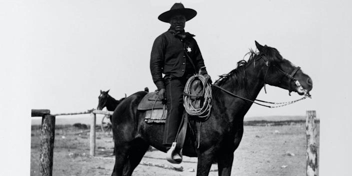 Historians estimate that one in four cowboys in the US were black.