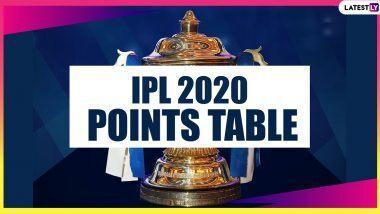 IPL 2020 Points Table Final Update: SRH Joins MI, DC and RCB in Playoffs; KKR Knocked Out