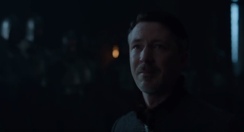<p>The shrewd schemer, the master manipulator, the calculating conspirator who aspired to climb the ladder all the way to the Iron Throne instead found himself on his knees, begging for his life. His own plot to turn Sansa and Arya against each other backfired spectacularly, as the two sisters (with an assist from Bran) ganged up on him instead. Sansa dealt the sentence, while Arya executed the order. Chaos is a ladder — and it goes all the way down into the grave. —<em>Kelly Woo</em><br>(Photo: HBO) </p>