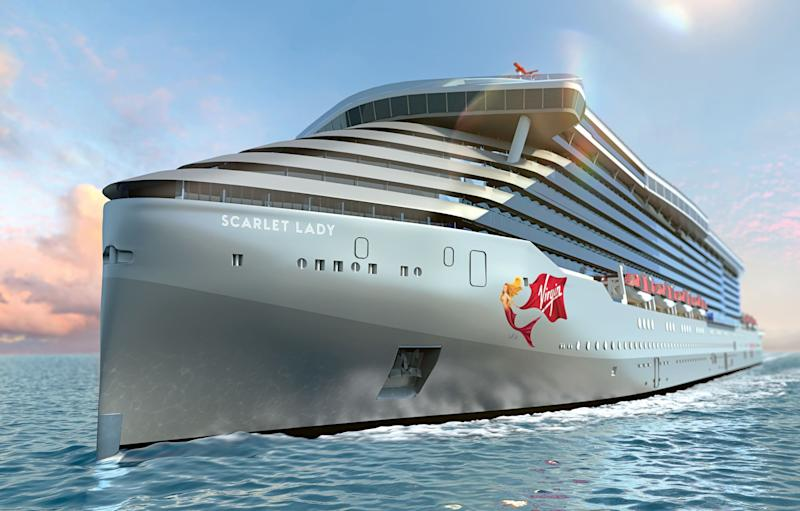 Virgin's mermaid will feature on Scarlet Lady's bow