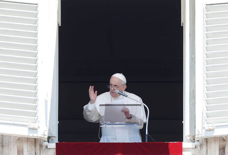 Pope Francis leads Angelus prayer at the Vatican