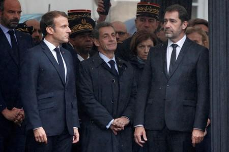 French President Macron attends ceremony for four victims of Paris police attack, in Paris
