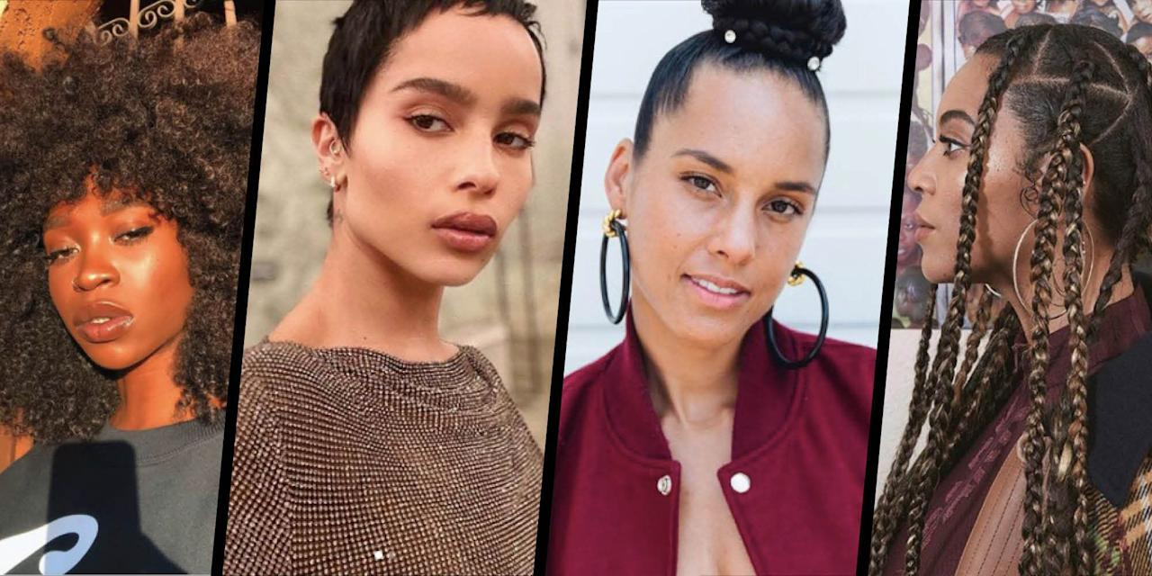<p>From Beyoncé's flawless braids to Tracee Ellis Ross' consistently beautiful bantu knots and curls, there's a wealth of celebrity inspiration out there when it comes to hairstyles for textured hair right now.</p><p>Here, see our favourite protective styles, on-point wigs and intricate twists to fuel your next re-style, whatever your curl pattern.</p>