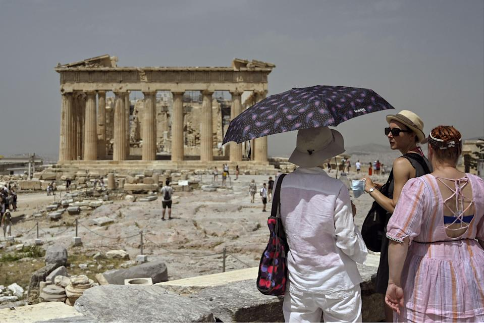 Ancient Acropolis archeological site in Athens, Greece (X07402/AFP via Getty Images)