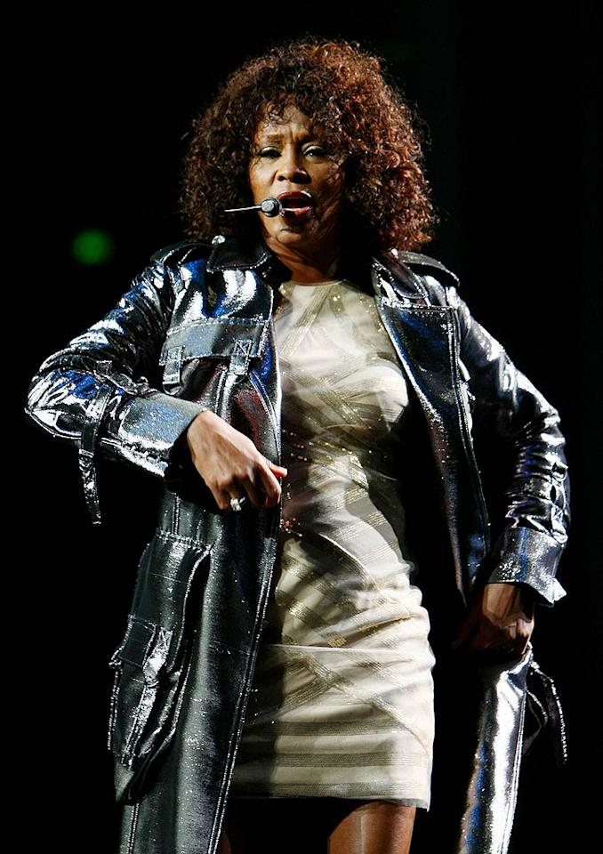 """Whitney Houston has faced a barrage of complaints since embarking on a six-date tour of Australia, after she coughed and croaked through her concert in Brisbane on Monday. Fans said the diva was off-key and looked exhausted. Houston's publicist responded to the criticism with a statement -- """"Whitney is in great health and having a terrific time on her tour and with her fans."""" Don Arnold/<a href=""""http://www.wireimage.com"""" target=""""new"""">WireImage.com</a> - February 24, 2010"""