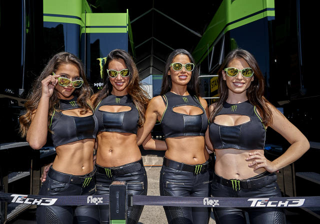 Monster Energy Girls at an event in Spain. (Getty Images)