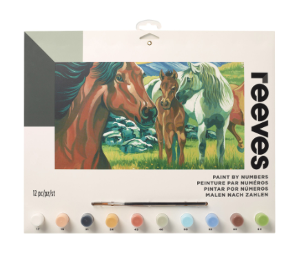 Paint by Numbers – wild horses