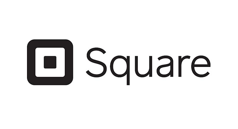 Square logo with word and concentric square icon.