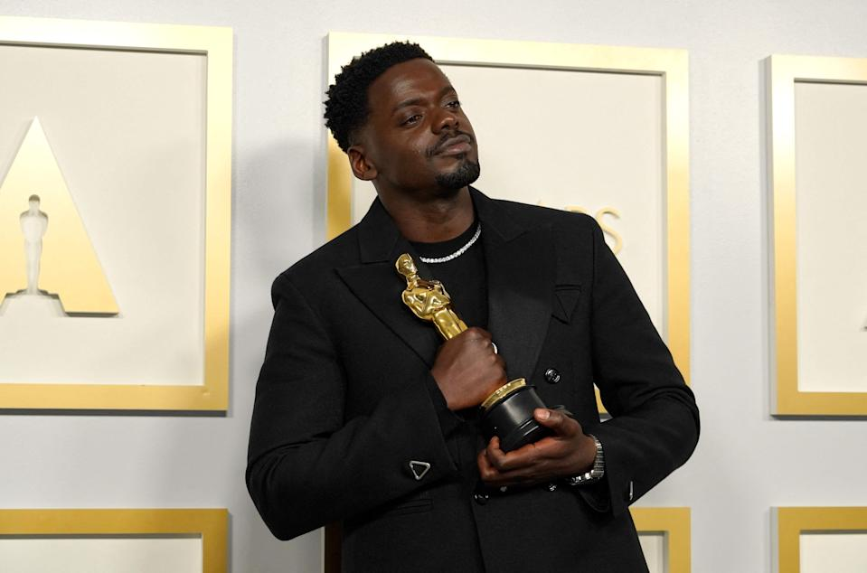 """Daniel Kaluuya wins the award for best actor in a supporting role for """"Judas and the Black Messiah."""""""
