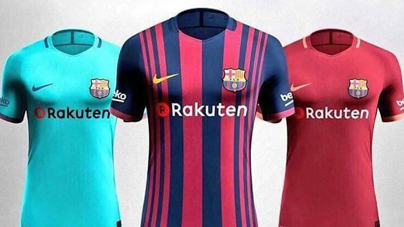 the latest bf67f f4a50 Barcelona's new kits for 2017-18 confirmed! What Messi and ...