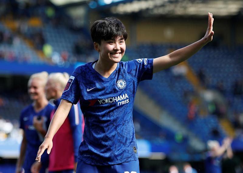 Chelsea's Ji So-Yun starred for Chelsea in their 3-1 victory away at West Ham Action Images via Reuters/Paul Childs