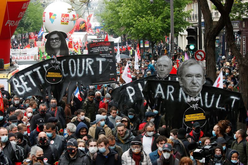 Traditional May Day march in Paris