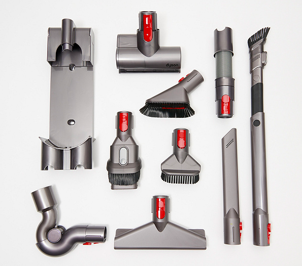 Dyson V8 Animal Pro Cordfree Vacuum with 9 Tool Attachments. (Photo: QVC)