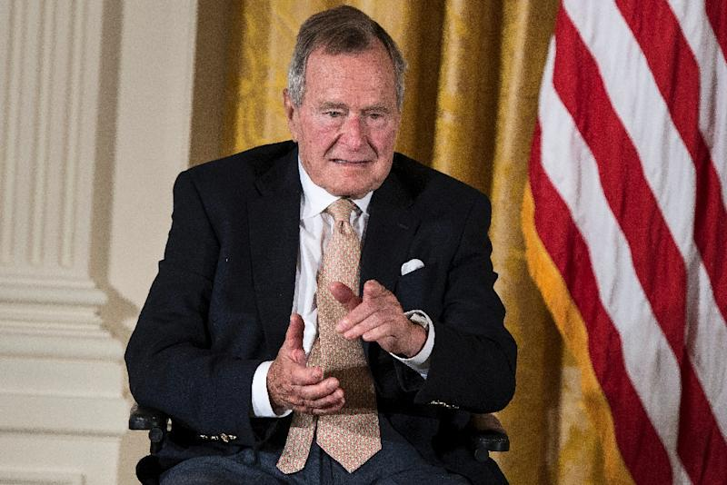 Former George H.W. Bush, who served as commander-in-chief from 1989 to 1993, is the oldest of the five living former US presidents