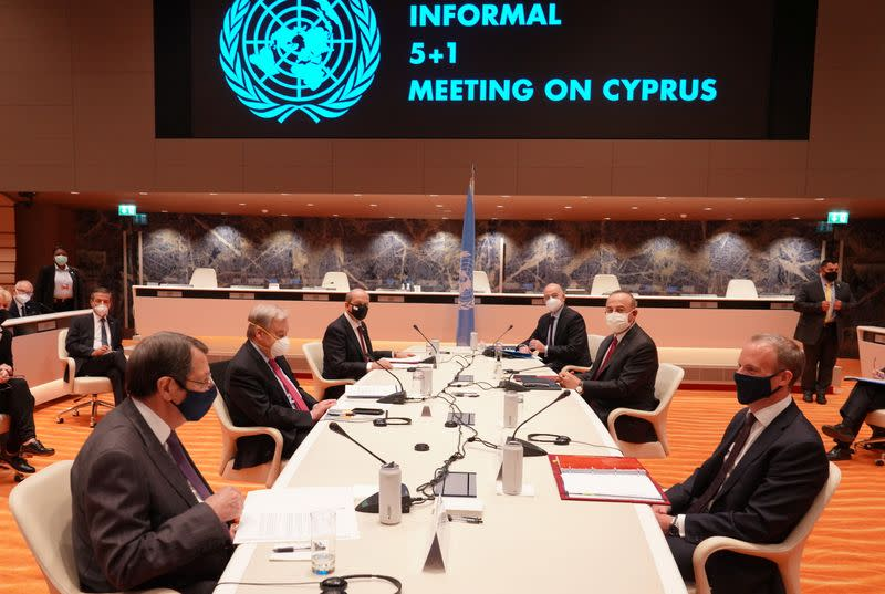 Meeting over Cyprus at the United Nations in Geneva