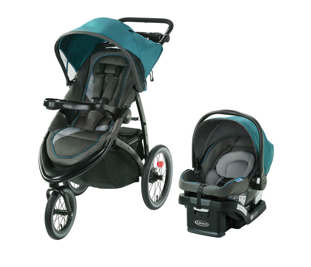 Graco FastAction Jogger LX Stroller with SnugRide SnugLock 35 Lite Infant Car Seat (Photo via Best Buy Canada)
