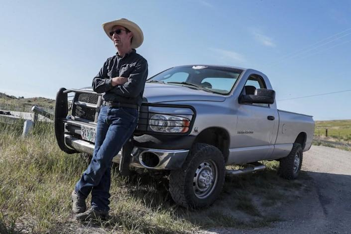 Klamath Falls, Oregon, Wednesday, June 9, 2021 - Farmer Tracey LIskey believes his efforts to save the endangered Sucker fish will benefit farmers along the Klamath Project. The Gone Fishing complex is home to thousands of endangered Sucker fish that will eventually be released back to the Upper Klamath Lake. (Robert Gauthier/Los Angeles Times)