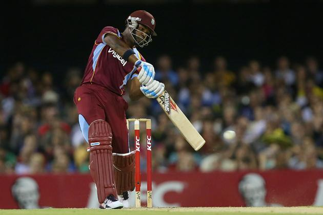 BRISBANE, AUSTRALIA - FEBRUARY 13:  Darren Bravo of West Indies bats during the International Twenty20 match between Australia and the West Indies at The Gabba on February 13, 2013 in Brisbane, Australia.  (Photo by Chris Hyde/Getty Images)