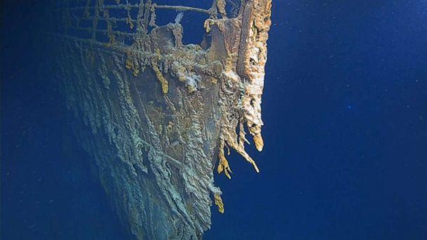 PHOTO: The RMS Titanic wreck rests at the bottom of the North Atlantic Ocean, 370 miles south of Newfoundland, Canada, August 2019. (Atlantic Productions)