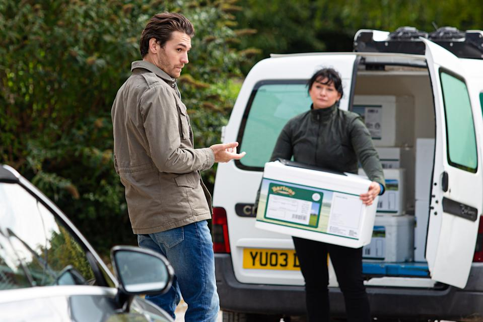 Will Moira rumble Mack and Charity's plans? (ITV)