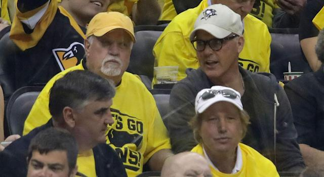 <p>Michael Keaton hasn't been spotted supporting his Penguins this postseason, but he did make his way to a Stanley Cup game in Pittsburgh last year.<br> (Bruce Bennett/Getty Images) </p>