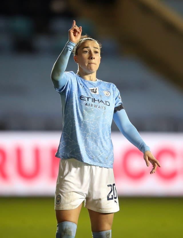 Lucy Bronze in Women's Champions League action for Manchester City against Goteborg in December 2020