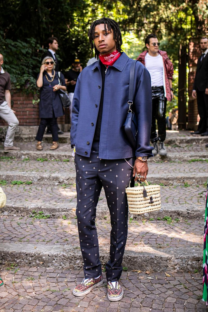 A Milan Fashion Week attendee (Getty Images)