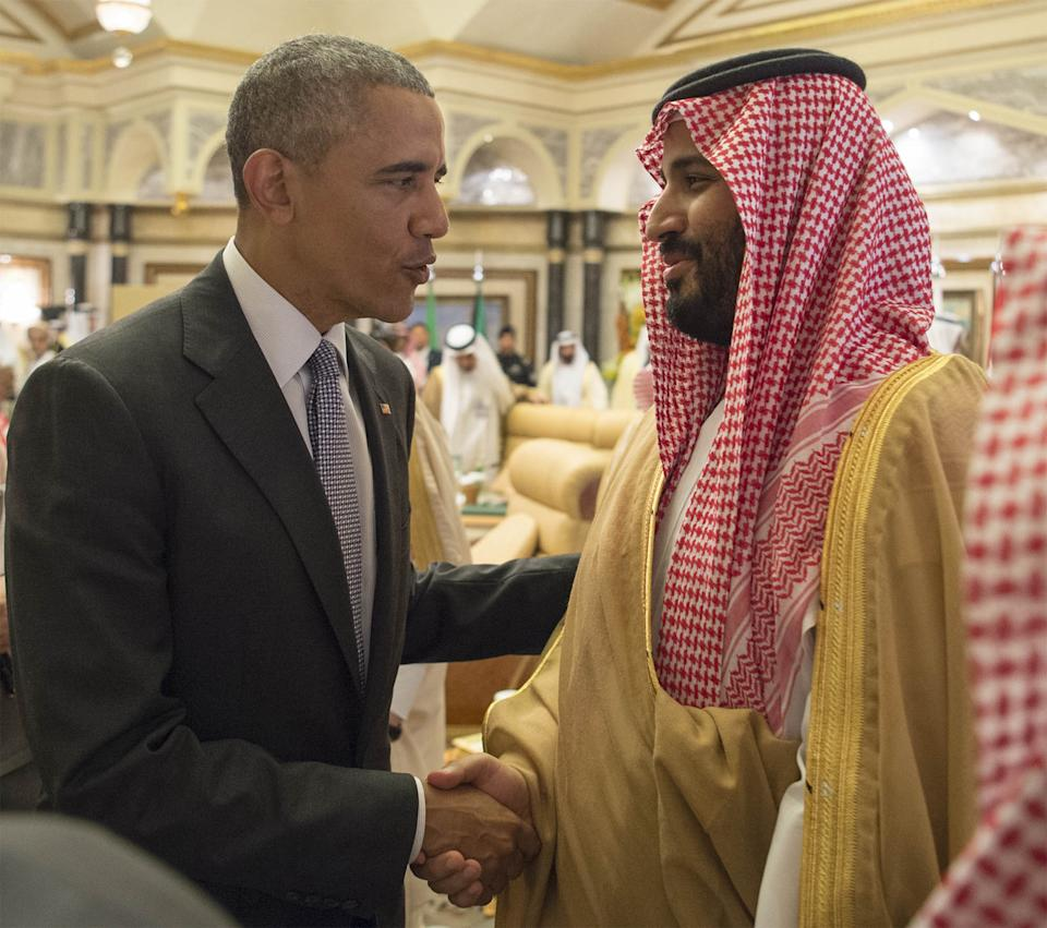 President Barack Obama, left, in April 2016 with Saudi Defense Minister and Deputy Crown Prince Mohammed bin Salman, at a U.S.-Gulf Cooperation Council summit in Riyadh..