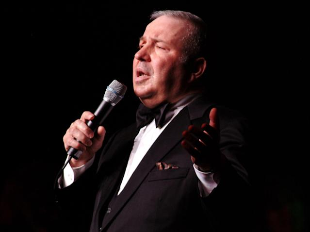 <p>Frank Sinatra Jr., who followed in his father's footsteps and became a known singer-songwriter in his own right, died of cardiac arrest while on tour on March 16. He was 72. — (Pictured) Frank Sinatra Jr. performs at KLAC's Mistletoe and Martinis Concert in 2003. ( Bryan Linden/WireImage via Getty Images) </p>
