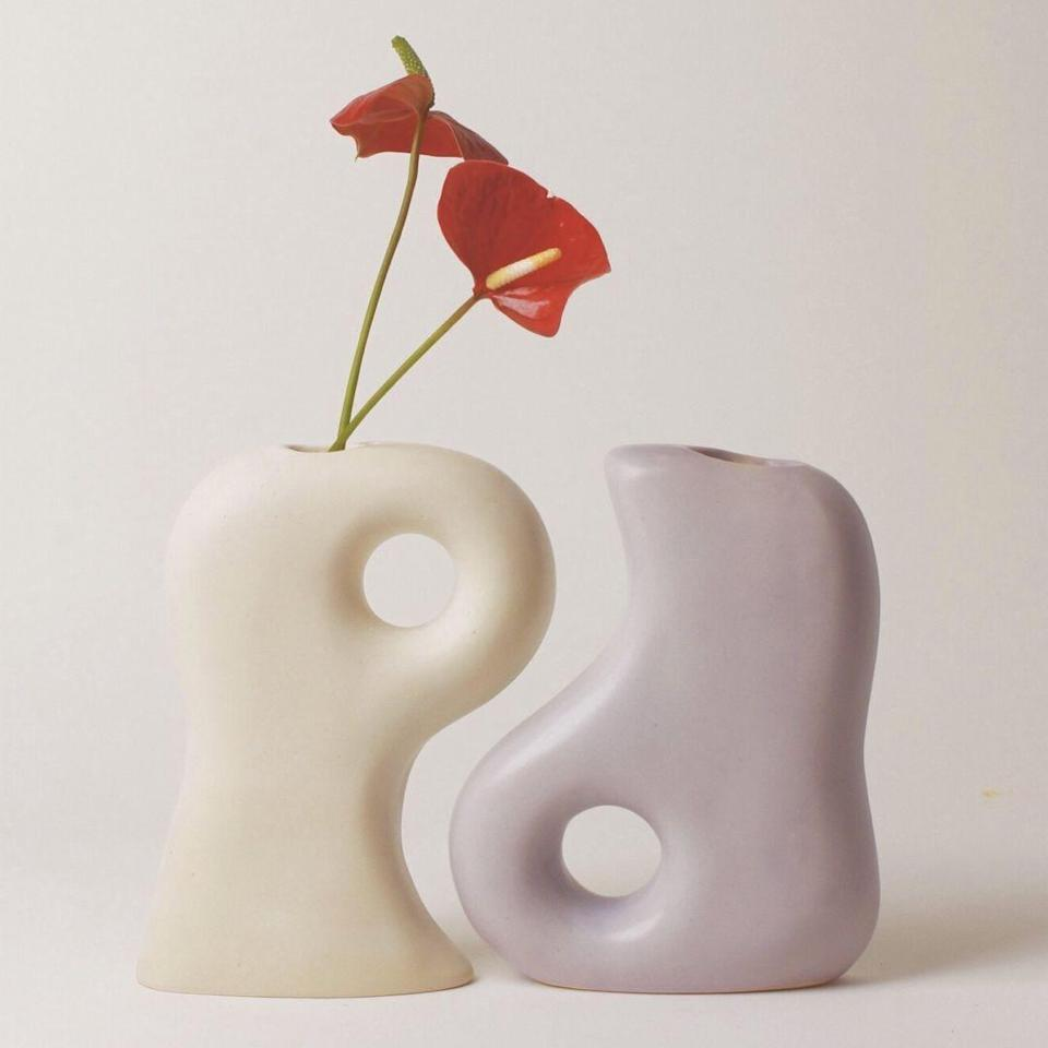 """Summer School Shop has some of the most special vessels around, with handmade mugs, planters, and jugs that look like something you'd find at The Met. This abstract duo comes in various colors and speaks to the balance of life with its Yin and Yang-inspired design. $198, Summer School. <a href=""""https://www.summerschoolshop.com/shop/bff-duo"""" rel=""""nofollow noopener"""" target=""""_blank"""" data-ylk=""""slk:Get it now!"""" class=""""link rapid-noclick-resp"""">Get it now!</a>"""
