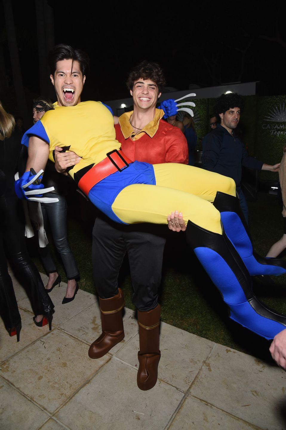 <p>Ross Butler and Noah Centineo made a strange dynamic duo as Wolverine and Gaston. But hey, we're not complaining. Two of our celeb crushes in one pic is the only treat we need this Halloween!</p>