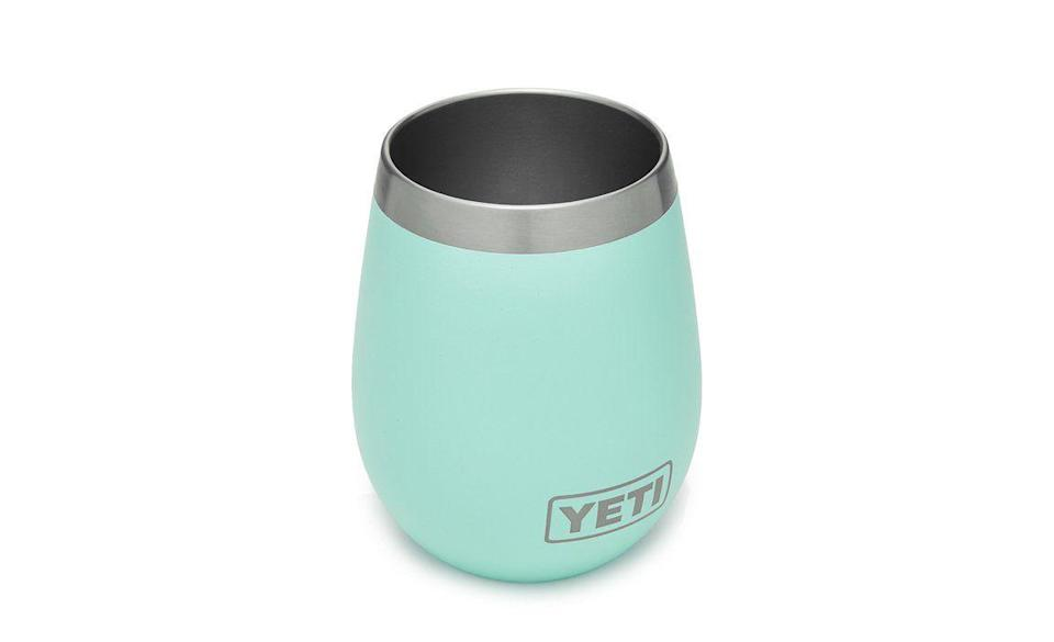 "<p><strong>YETI</strong></p><p>yeti.com</p><p><strong>$18.74</strong></p><p><a href=""https://go.redirectingat.com?id=74968X1596630&url=https%3A%2F%2Fwww.yeti.com%2Fen_US%2Fdrinkware%2Frambler-10-oz-wine-tumbler%2F21071300067.html&sref=https%3A%2F%2Fwww.delish.com%2Ffood-news%2Fg35269879%2Fyeti-tumbler-cup-sale-january-2021%2F"" rel=""nofollow noopener"" target=""_blank"" data-ylk=""slk:Shop Now"" class=""link rapid-noclick-resp"">Shop Now</a></p><p>You can never have too many while glasses to begin with, but this one is shatter resistant and will keep your glass of white refreshingly cold. </p>"
