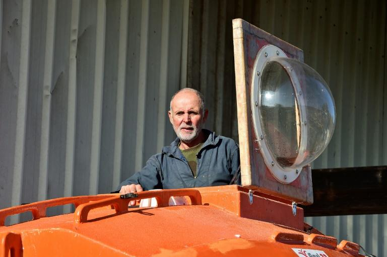 Jean-Jacques Savin built his own high-tech barrel for a solo crossing of the Atlantic Ocean last year