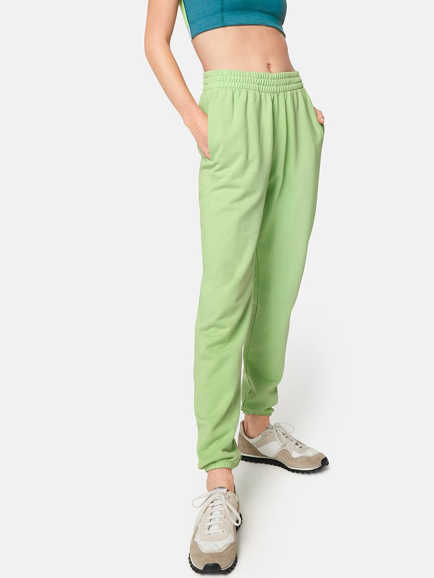 """These bright sweats from Outdoor Voices have become my go-to for work and walks around my neighborhood — they're a mood booster! Once this is all over, I'm pretty sure I'll keep them in heavy rotation, just maybe not to work."" <br> <br> <strong>Outdoor Voices</strong> Cotton Terry Jogger, $, available at <a href=""https://go.skimresources.com/?id=30283X879131&url=https%3A%2F%2Fwww.outdoorvoices.com%2Fproducts%2Fcotton-terry-jogger-2%3Fvariant%3D31925600813134"" rel=""nofollow noopener"" target=""_blank"" data-ylk=""slk:Outdoor Voices"" class=""link rapid-noclick-resp"">Outdoor Voices</a>"