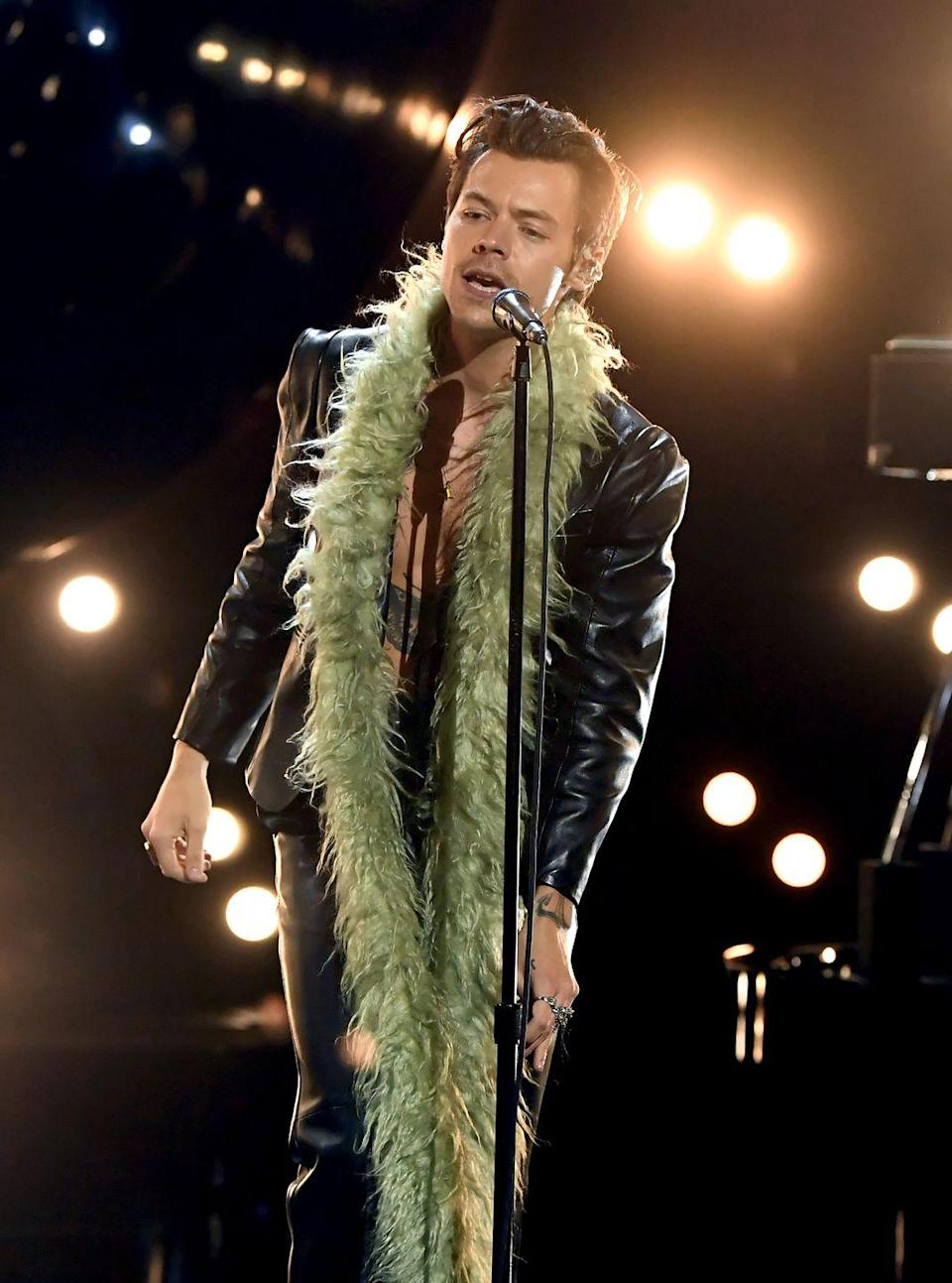 <p>Harry Styles in Gucci</p>