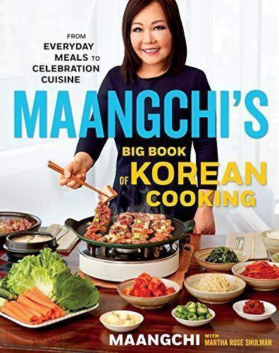 """<p><strong>Maangchi</strong></p><p>bookshop.org</p><p><strong>$32.20</strong></p><p><a href=""""https://go.redirectingat.com?id=74968X1596630&url=https%3A%2F%2Fbookshop.org%2Fbooks%2Fmaangchi-s-big-book-of-korean-cooking-from-everyday-meals-to-celebration-cuisine%2F9781328988126&sref=https%3A%2F%2Fwww.delish.com%2Fkitchen-tools%2Fcookbooks%2Fg33444190%2Fbest-korean-cookbooks%2F"""" rel=""""nofollow noopener"""" target=""""_blank"""" data-ylk=""""slk:BUY NOW"""" class=""""link rapid-noclick-resp"""">BUY NOW</a></p><p>Dubbed """"YouTube's Korean Julia Child"""" by the New York Times, beloved vlogger Maangchi teaches basic technique and step-by-step recipes for everyone—even those who have never made Korean food before.</p>"""